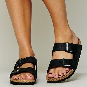 Birkenstock Arizona Black Suede Leather Sandals 40